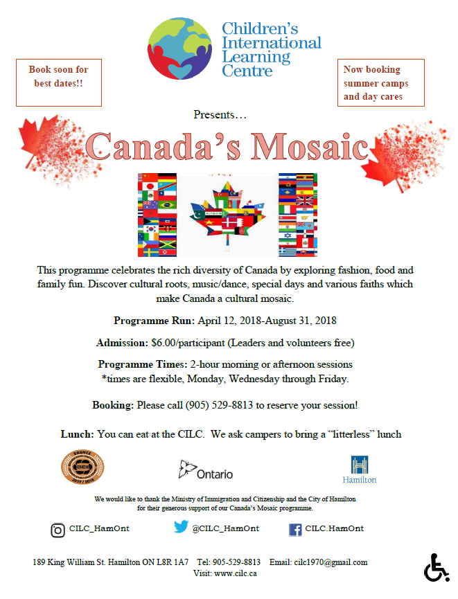 Canada's Mosaic flyer page 1