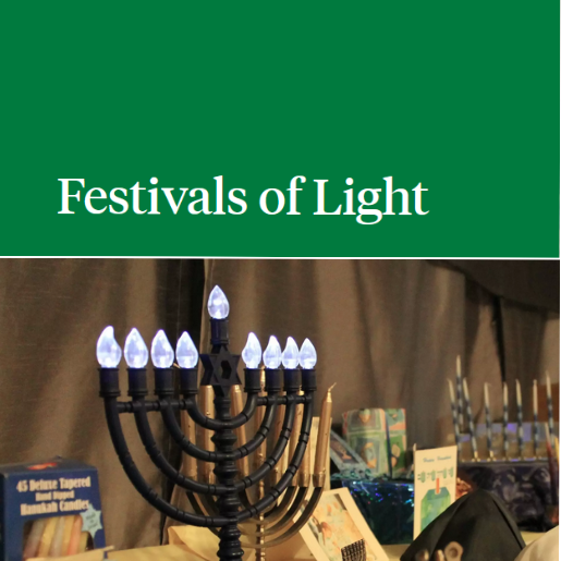 FOL title on a green background above a menorah