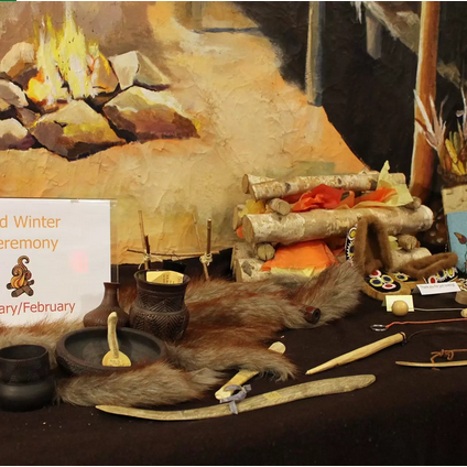 The Mid-Winter Ceremony display from the CILC