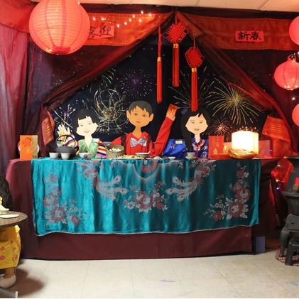 A lunar new year display from the CILC